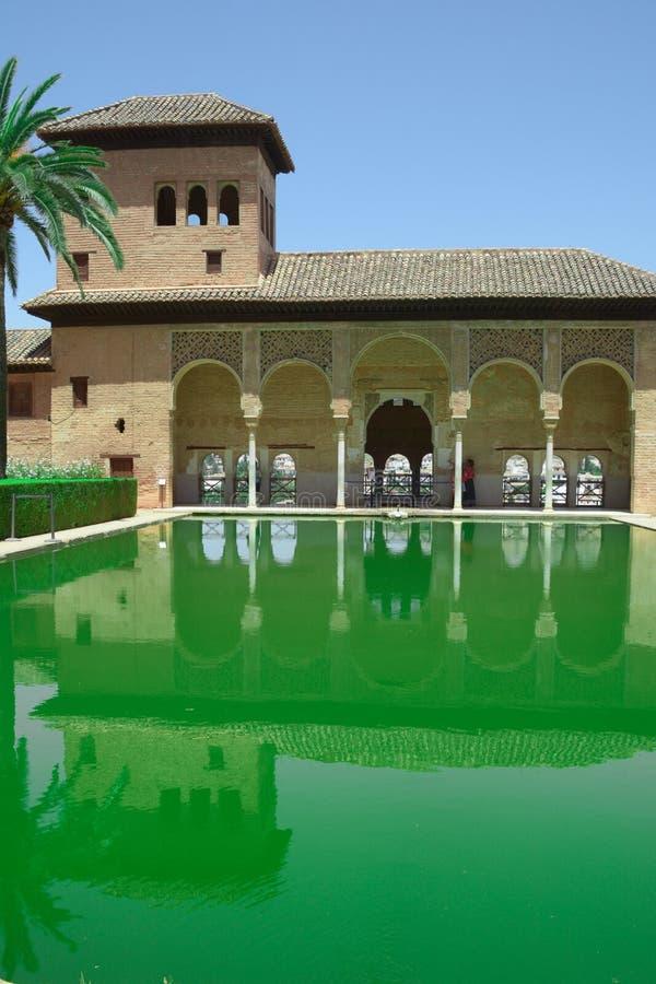 Muslim palace garden stock image