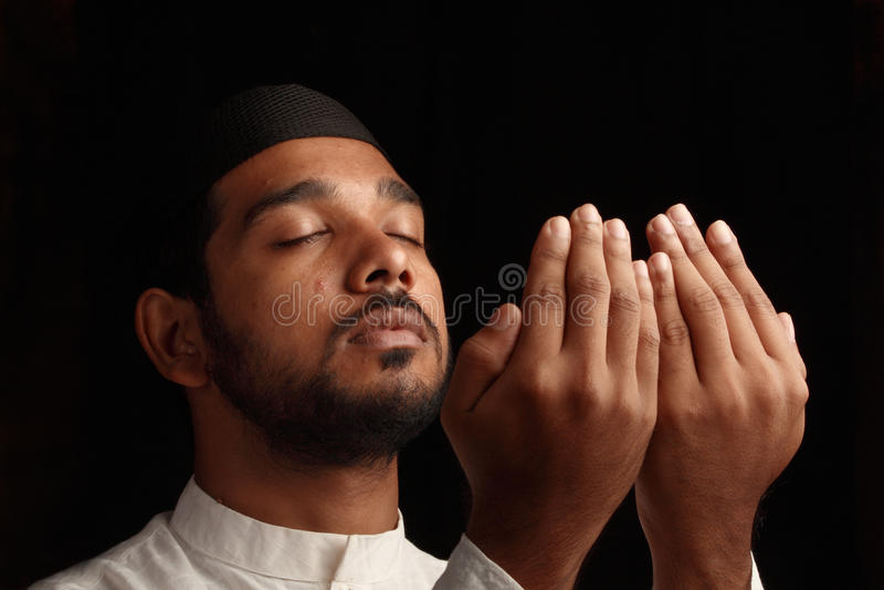 Muslim prayer stock photo