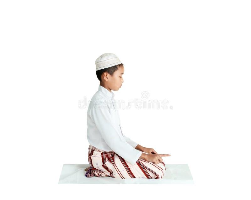 Muslim praying stock image