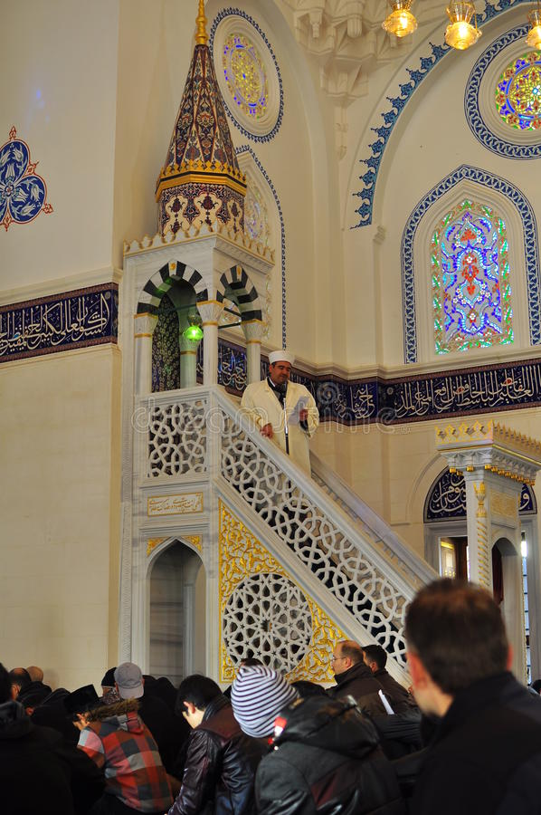 Download Muslim praying in a mosque editorial photo. Image of islamic - 23301591