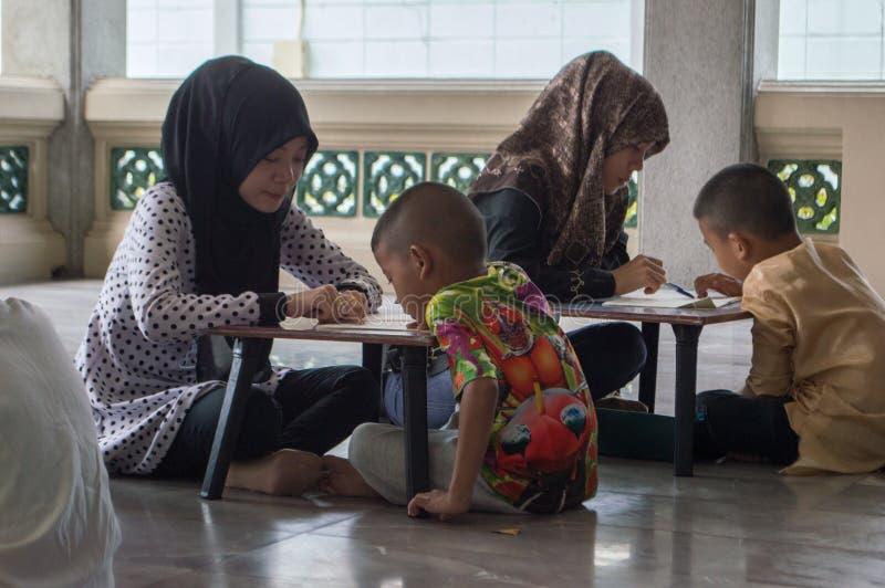 Muslim students royalty free stock photo
