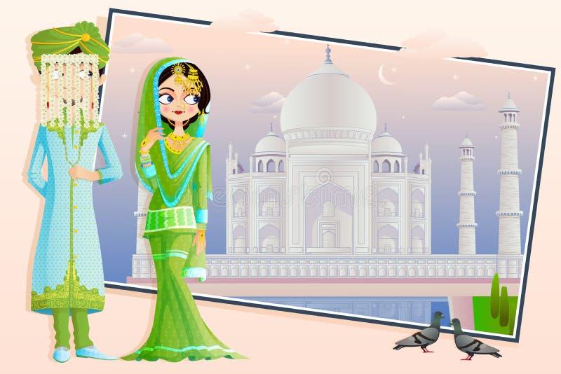 Muslim Wedding Couple vector illustration