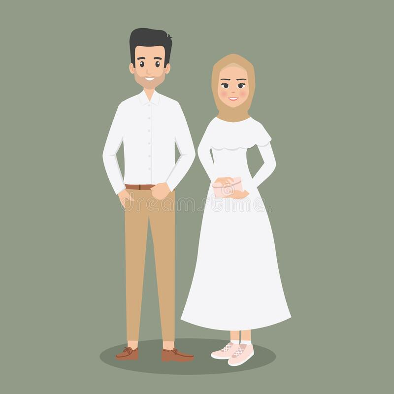 Muslim Wedding Couple Stock Illustrations 252 Muslim Wedding Couple Stock Illustrations Vectors Clipart Dreamstime