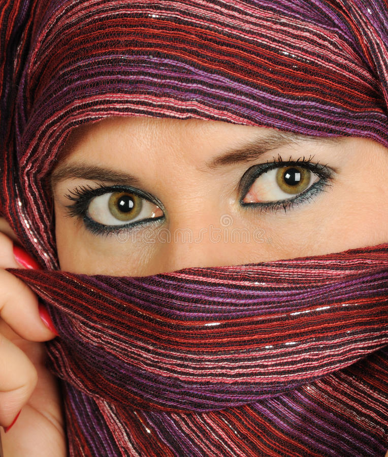 Download Muslim woman stock image. Image of makeup, black, eyes - 22248711