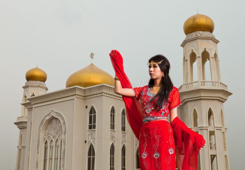 Download Muslim woman stock image. Image of female, people, green - 23505877