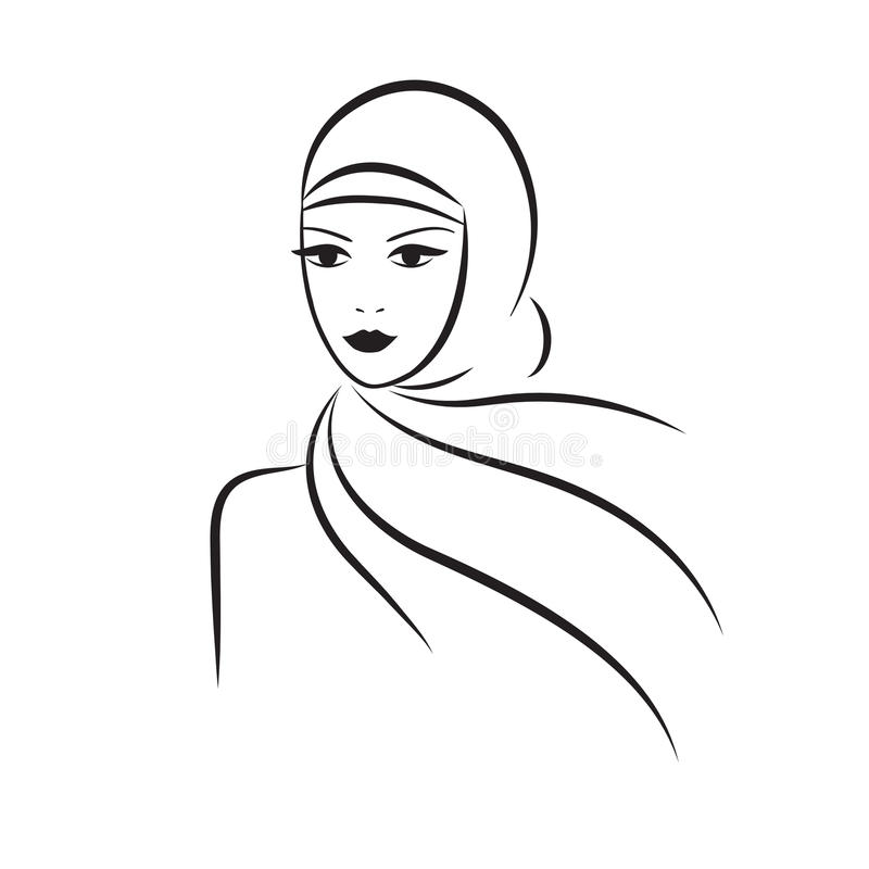 Muslim woman royalty free illustration