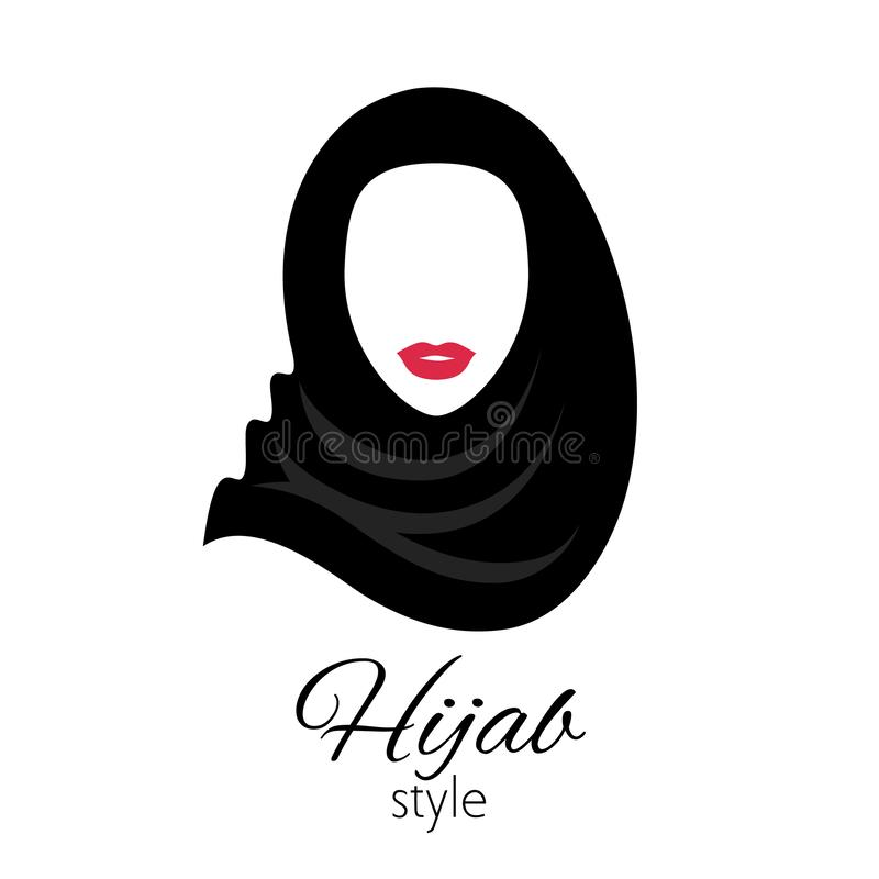 Muslim woman in hijab. Beautiful arabian lady. royalty free illustration