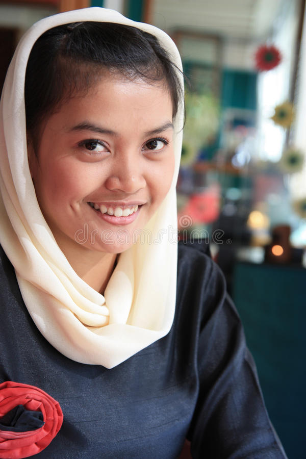 Download Muslim woman smiling stock photo. Image of expression - 10876818