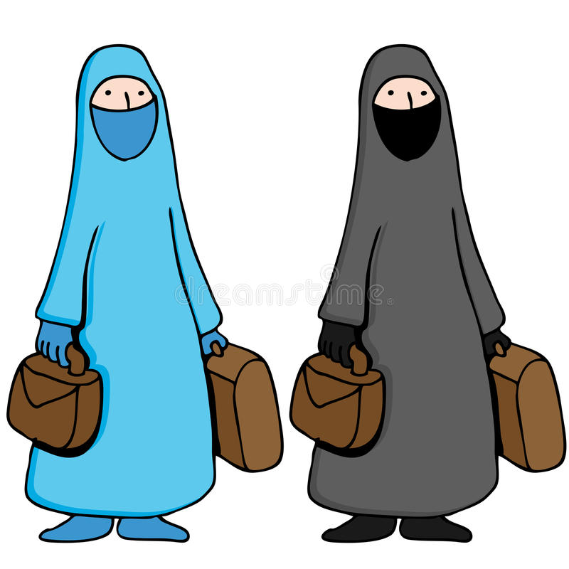 Muslim Woman Wearing Burka. An image of a muslim girl wearing a traditional burka vector illustration
