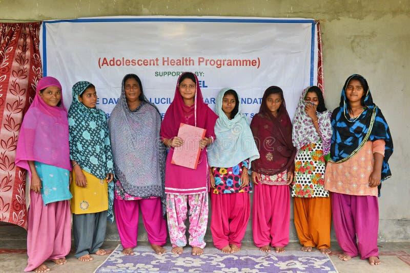 Muslim Women. A group of muslim volunteers posed regarding health programme at Bihar-India stock photography