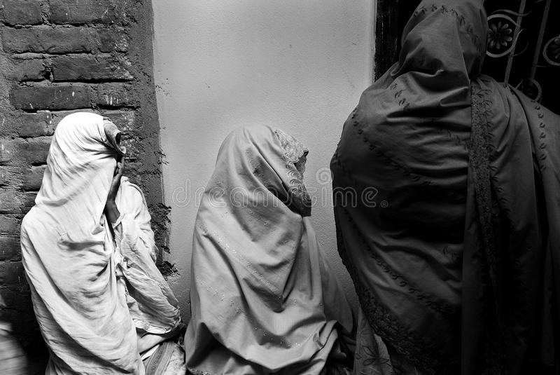 Muslim women in India royalty free stock photo
