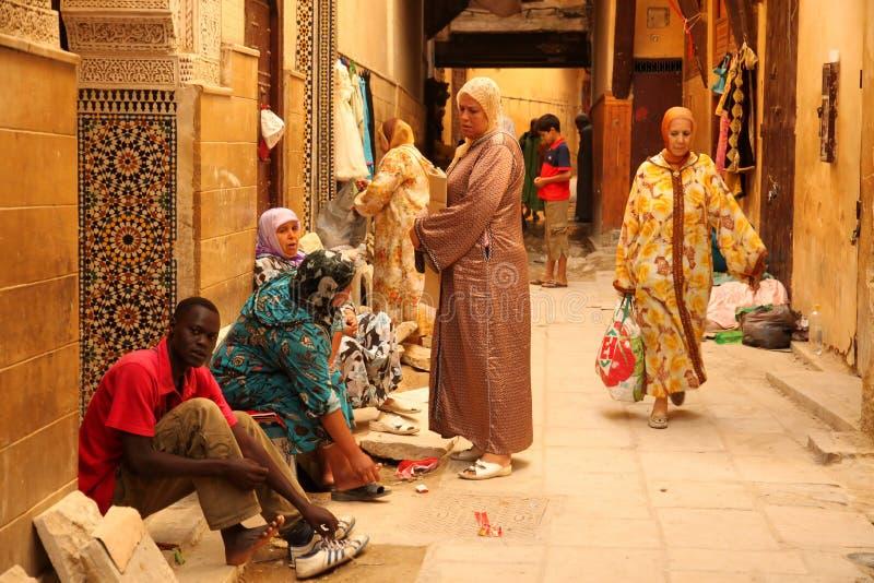 Muslim Women In The Medina Editorial Image