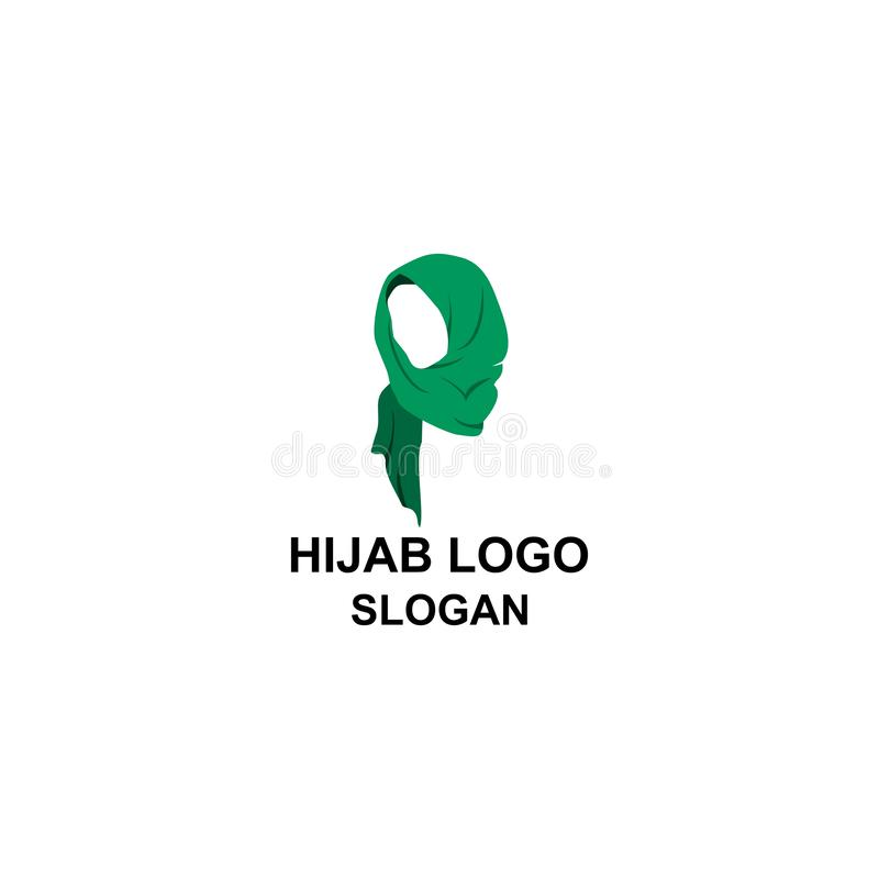 Muslim women profile with hijab logo. vector illustration