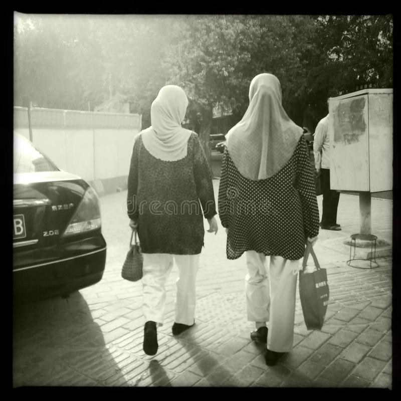 Muslim women royalty free stock images