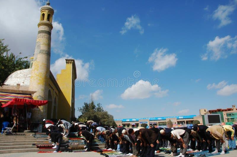 Muslim worshipers stock photos