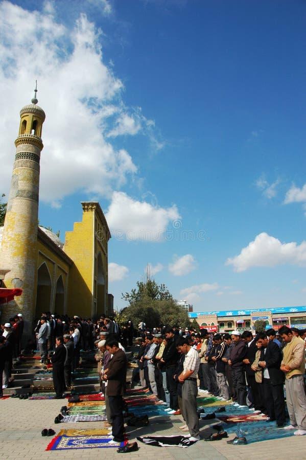 Muslim worshipers royalty free stock photos