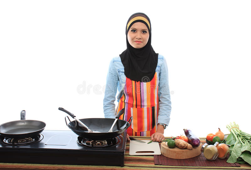 Muslimah概念 库存照片