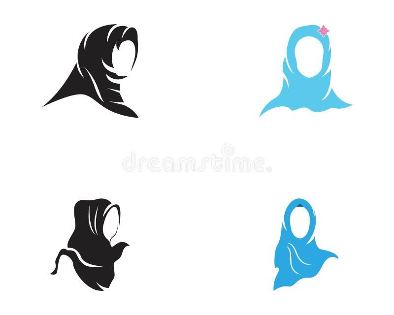 Muslimah hijab ikony projekta wektorowa ilustracja ilustracji