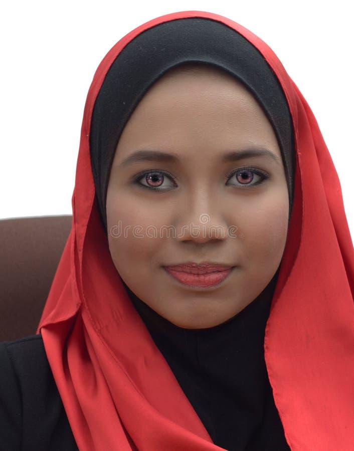 Muslimah portrait royalty free stock image
