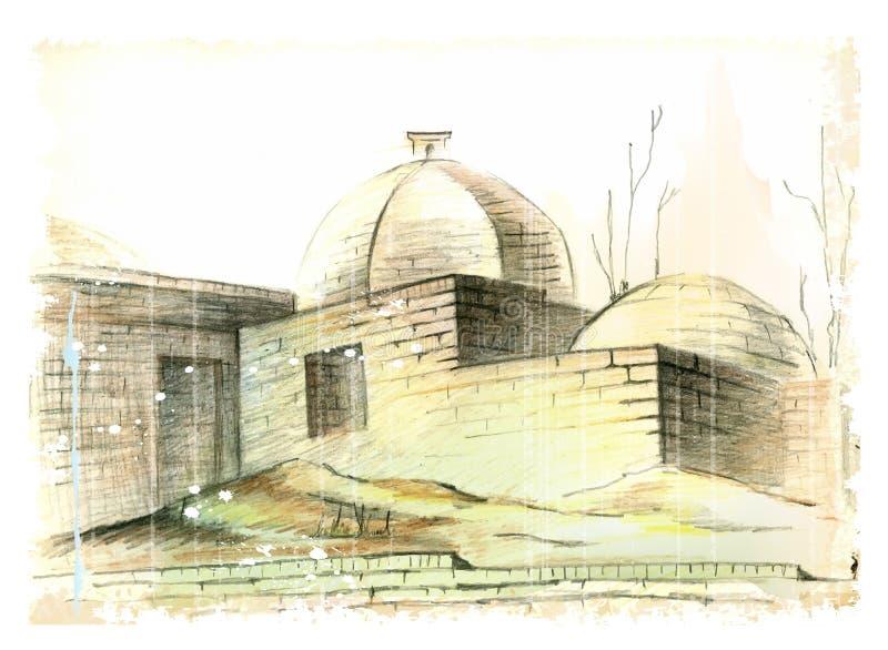 muslimarkitektur vektor illustrationer