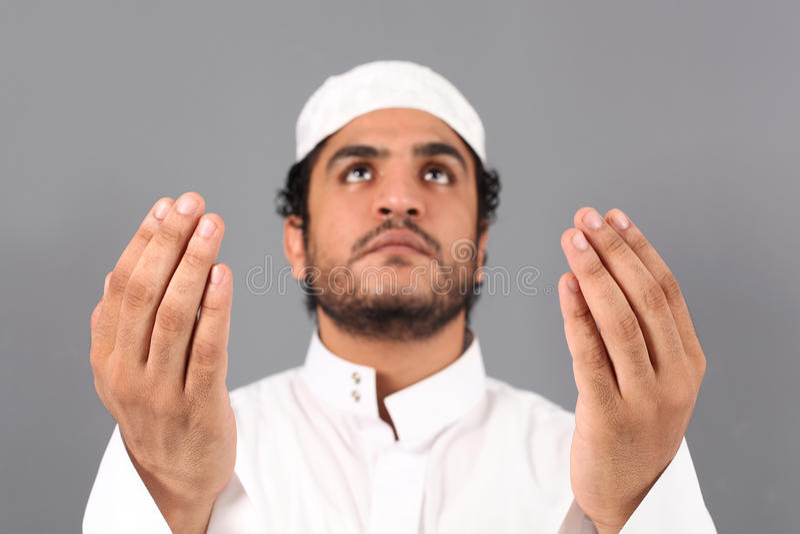Muslimbön royaltyfri fotografi