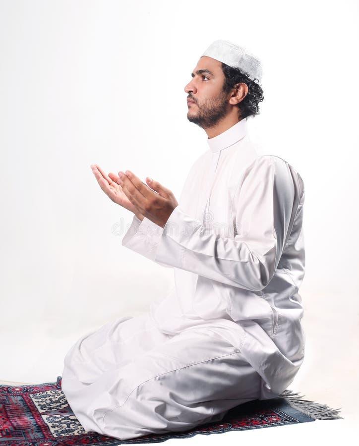Muslimbön royaltyfria bilder