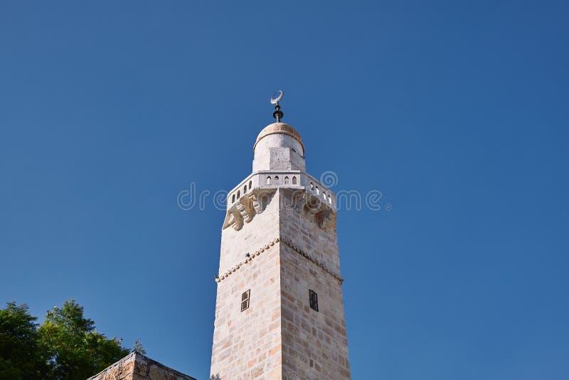 Muslimischer Turm der Altstadt Jerusalems ISRAEL stockfotos