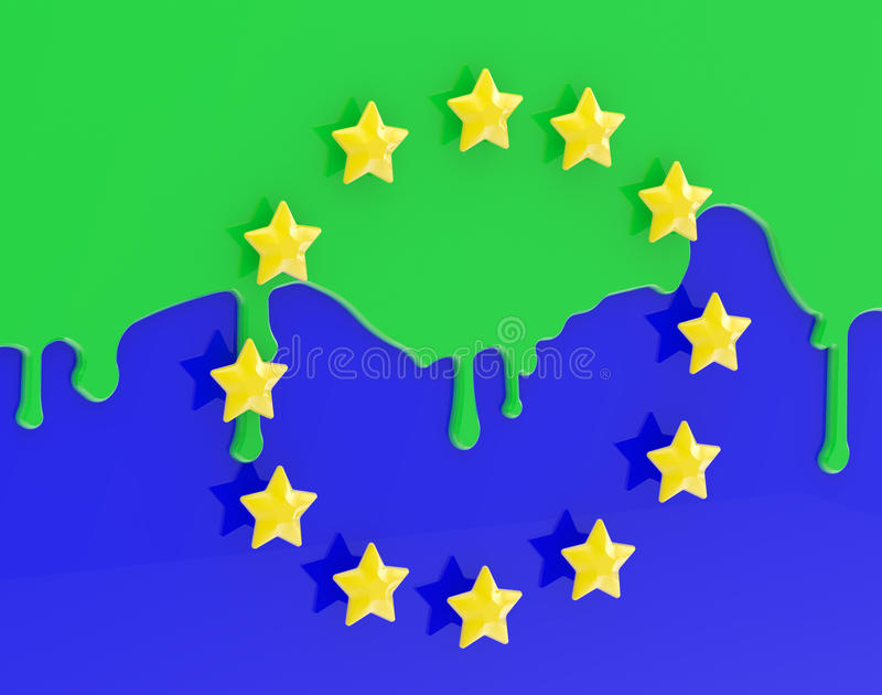 Download The Muslimization Of Europe As Coloured EU Flag Stock Illustration - Image: 23263116
