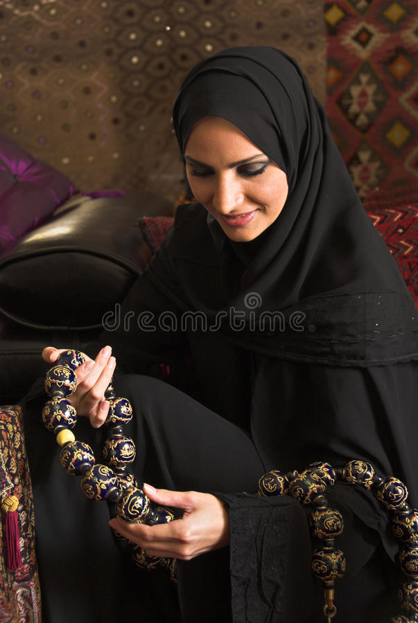 muslimkvinna royaltyfri foto