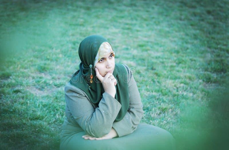 Muslimkvinna royaltyfria foton