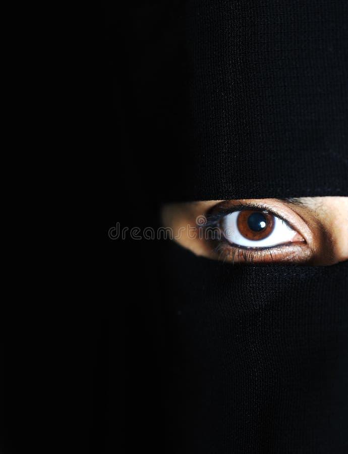 muslimkvinna royaltyfria bilder