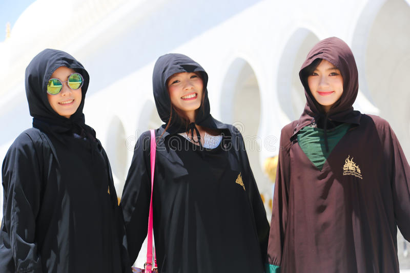 Muslims Girls At Mosque royalty free stock photos