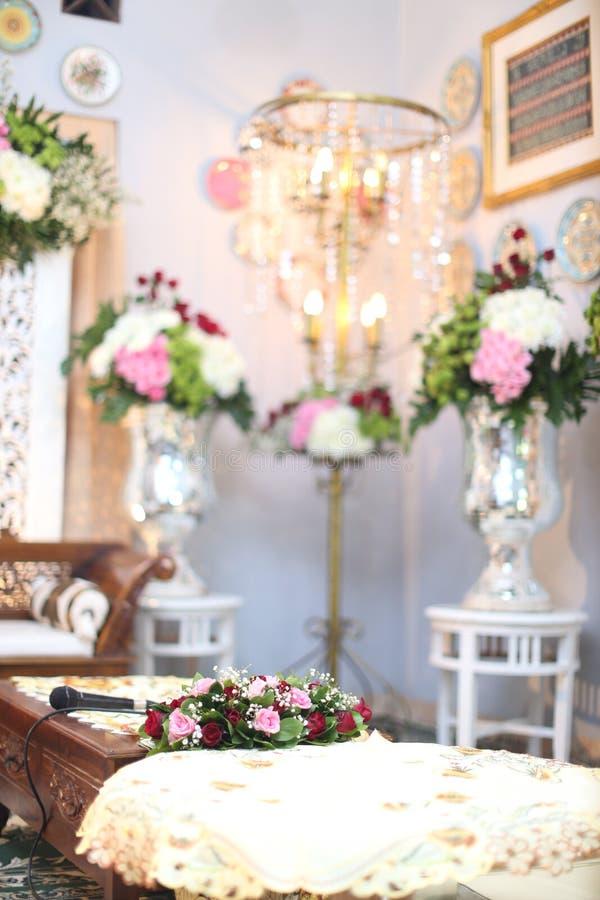 Muslimsk bröllopceremoni royaltyfria foton