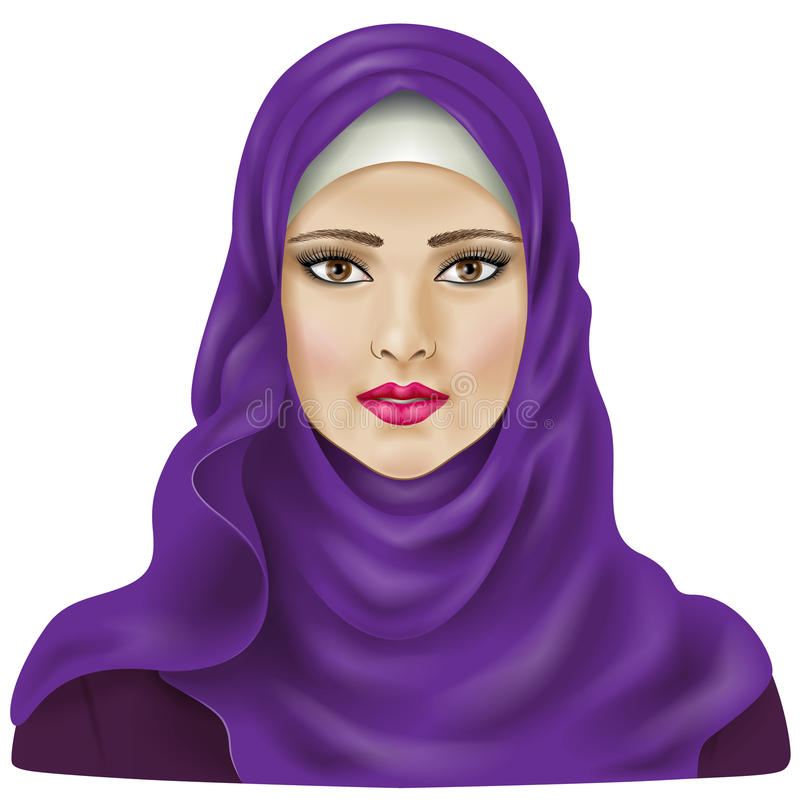 Muslimsk flicka royaltyfri illustrationer