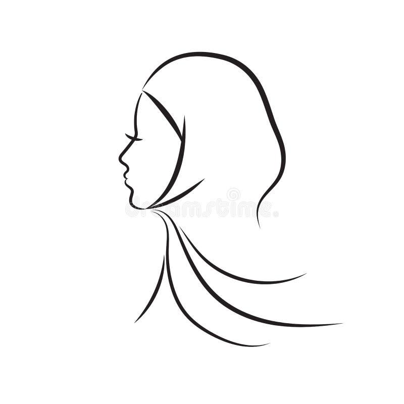 Muslimsk kvinna royaltyfri illustrationer