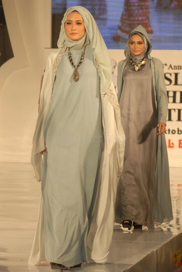 Muslimsk modefestival 2014 royaltyfria foton