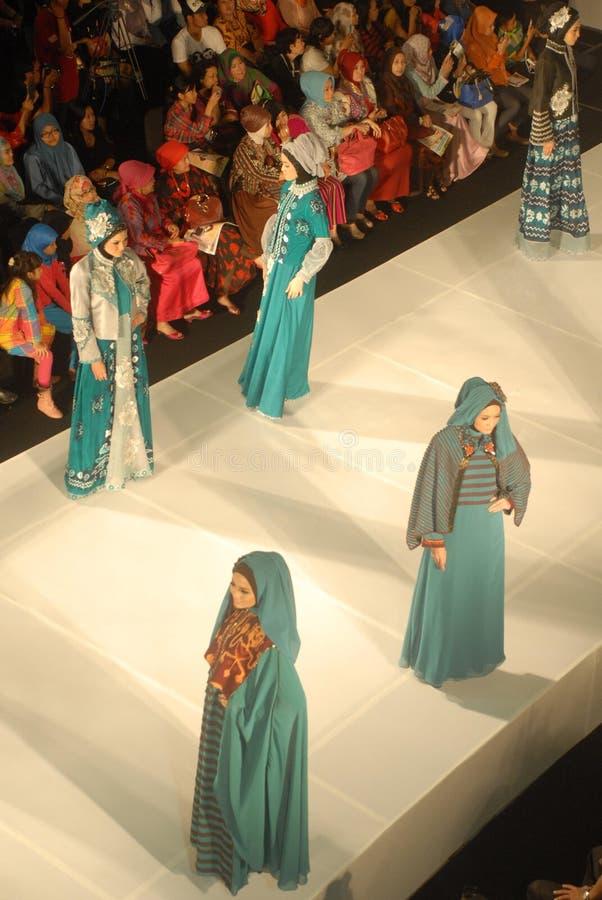 Muslimsk modefestival 2014 arkivfoto