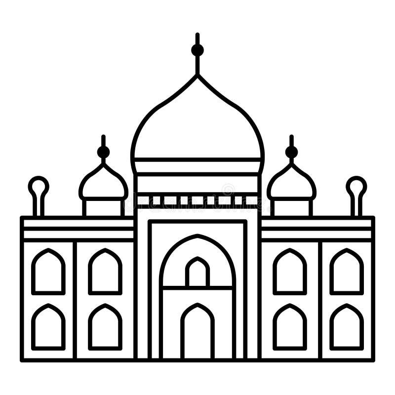 Muslimsk tempelsymbol, översiktsstil vektor illustrationer