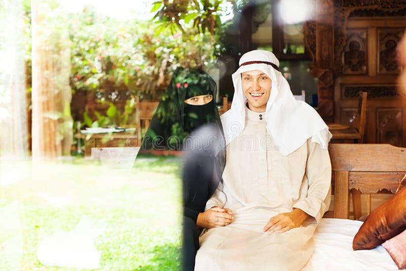 Muslimska par arkivfoton
