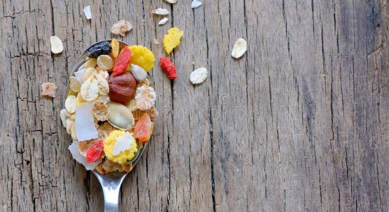 Muslin δημητριακά στοκ εικόνα