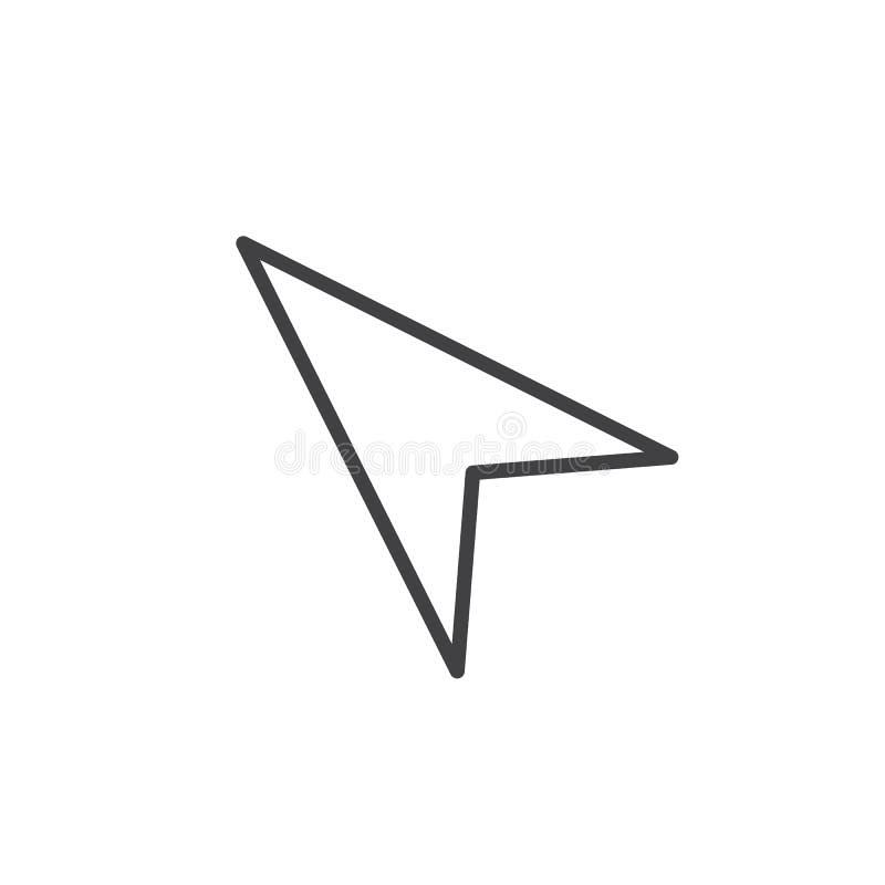 Musmarkörlinje symbol vektor illustrationer
