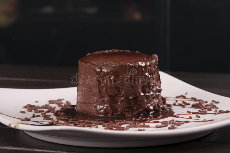 Musse de chocolate fotografia de stock royalty free