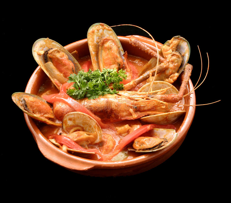 Mussel casserole royalty free stock images