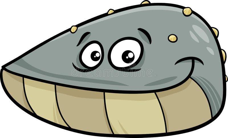 Mussel mollusk kreskówki ilustracja ilustracja wektor