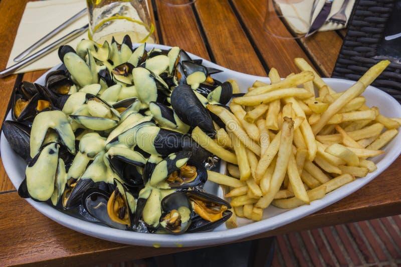 Mussels i układy scaleni obraz stock