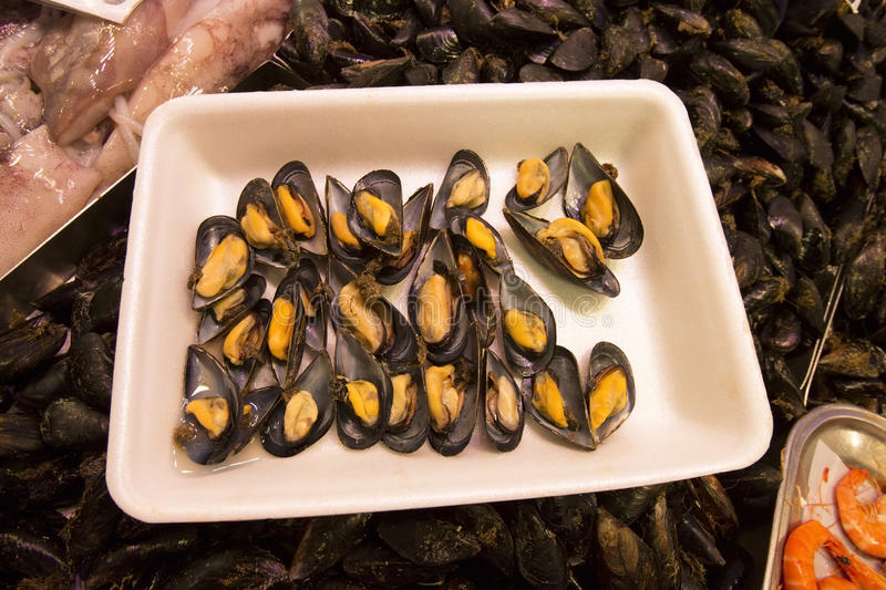 Mussels - Seafood - Fruits de Mer stock photo