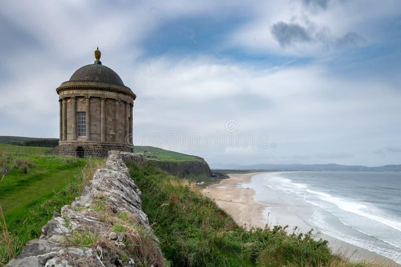 Mussenden-Tempel, Nordirland lizenzfreies stockfoto