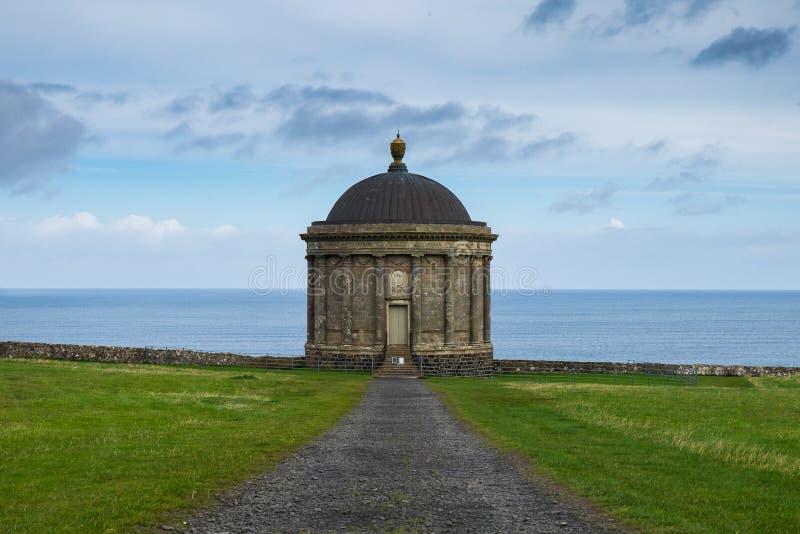 Mussenden-Tempel, Nordirland lizenzfreies stockbild