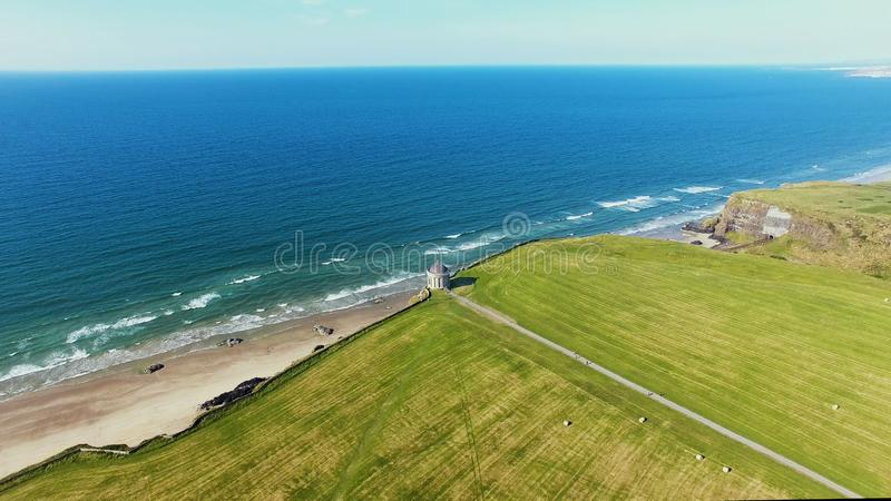 Mussenden Temple and Downhill Demesne Coleraine Co. Derry Northern Ireland royalty free stock images