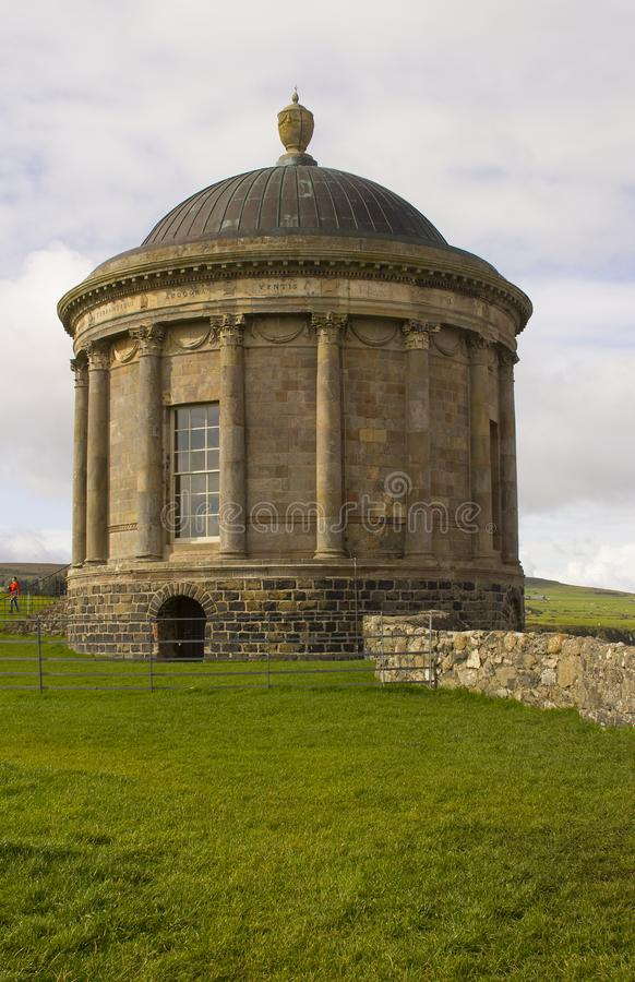 Mussenden Temple located on the Downhill Demesne in County Londonderry on the North Coast of Ireland. stock photography